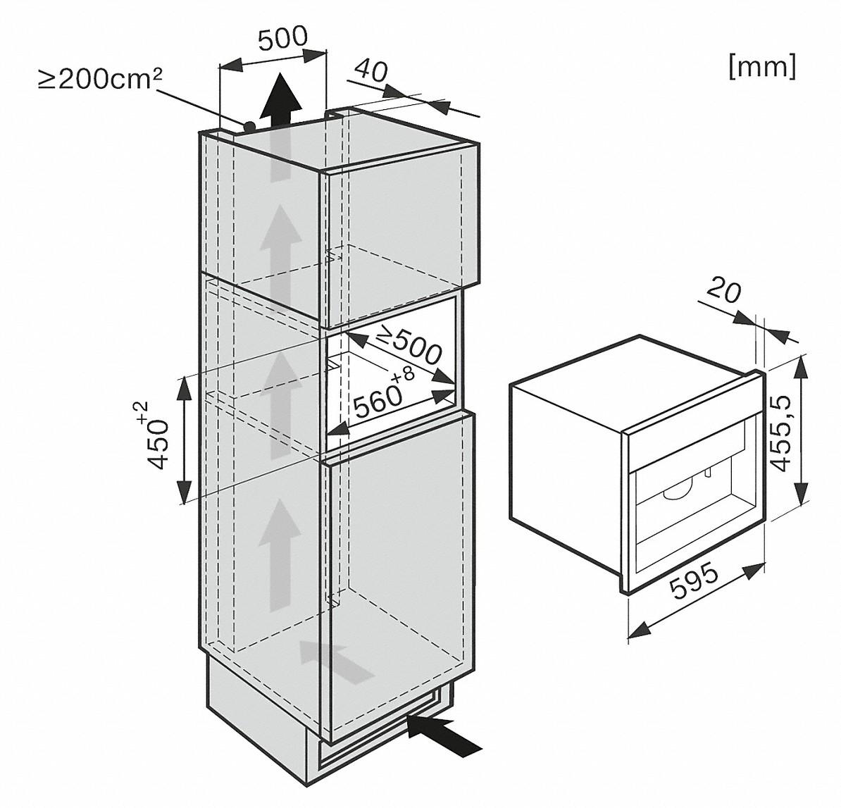 miele koffieautomaten cva 6800 inbouwkoffiemachine. Black Bedroom Furniture Sets. Home Design Ideas