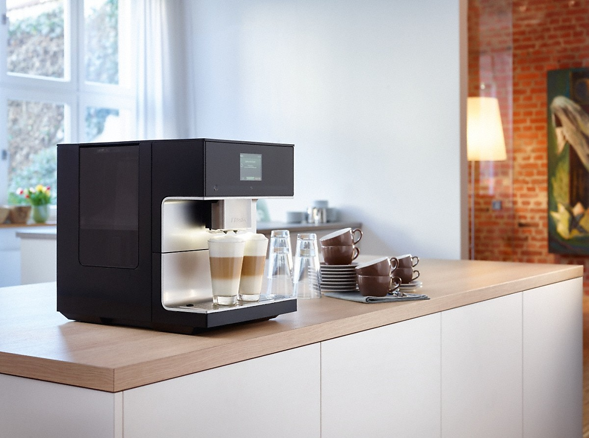miele cm 7300 vrijstaande koffiemachine. Black Bedroom Furniture Sets. Home Design Ideas