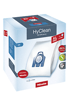 GN XL HyClean 3D - XL-pack HyClean 3D Efficiency GN 8 stofzuigerzakken HyClean GN--NO_COLOR